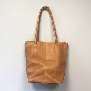Brown leather Hobo Handbag